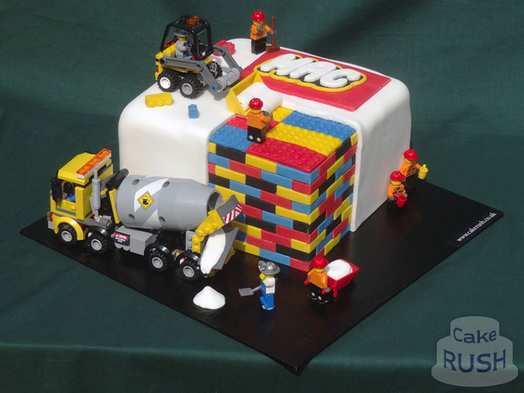 Lego Construction Wedding Cake