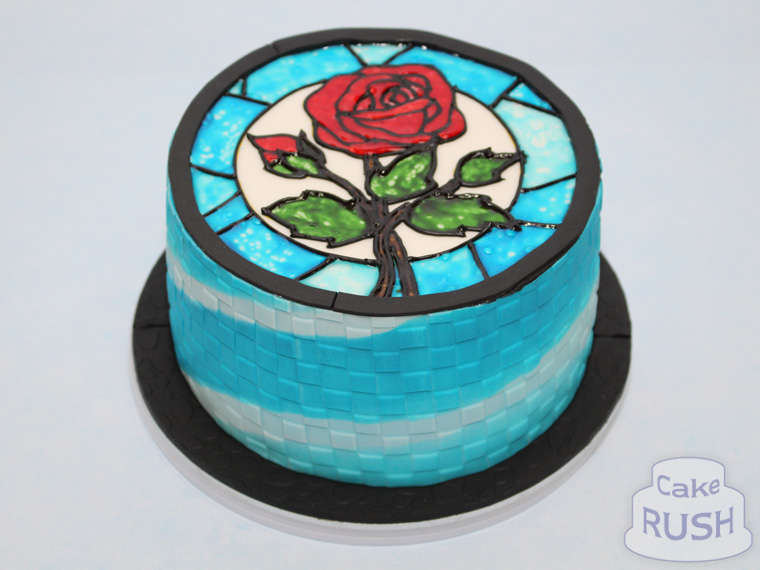 Stained Glass Rose cake