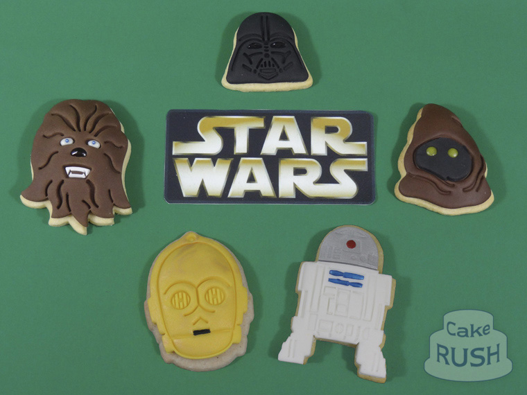 Star Wars cake (& biscuits)