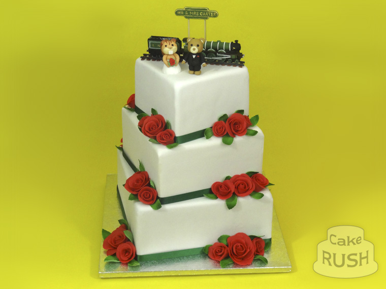 Train Wedding cake