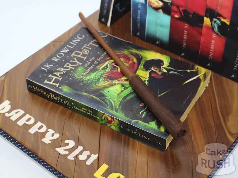 Harry Potter Bookshelf Cake 2