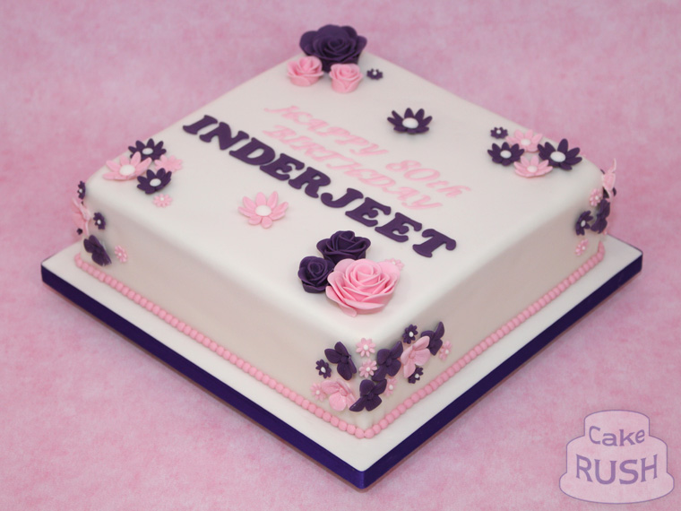 Pink / Purple Flowers cake