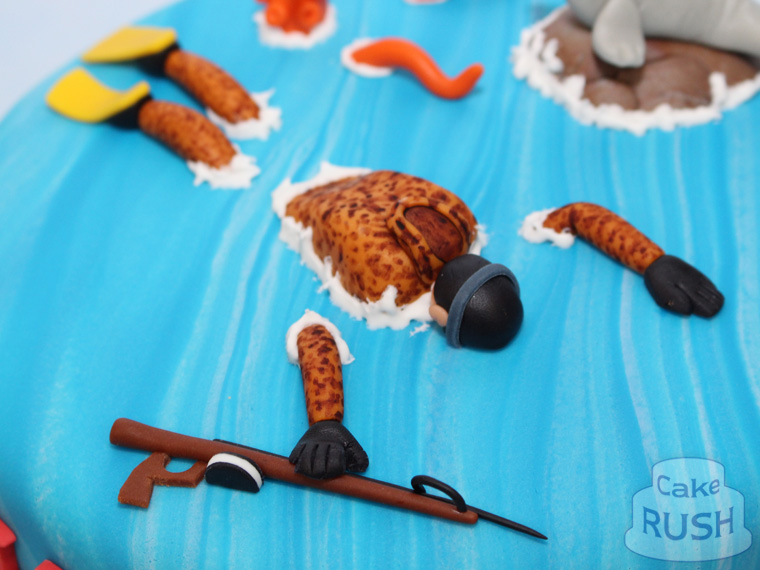 Spear-fishing cake